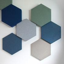 Pannello acustico a muro / in tessuto / colorato / decorativo