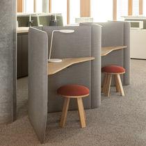 Divisorio per ufficio a pavimento / in tessuto / modulare