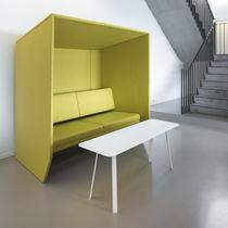 Tavolino basso moderno / in alluminio / in feltro / in schiuma di poliuretano