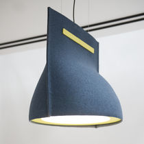 Lampada a sospensione / moderna / in metallo / in feltro