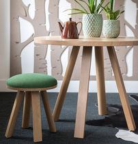 Tavolo d'appoggio moderno / in legno / rotondo / ovale
