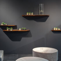 Scaffale a muro / moderno / in legno massiccio / professionale
