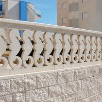 Balaustra in pietra ricostituita / da esterno / per esterno / per balcone