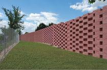 Blocco di calcestruzzo pieno / per muro di contenimento
