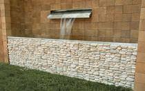 Lastra di paramento in calcestruzzo / da interno / da esterno / aspetto pietra