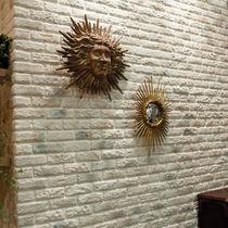 Rivestimento murale in calcestruzzo / per uso residenziale / a rilievo / aspetto mattone