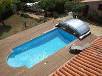 Copertura per piscina bassa / in alluminio / a motore