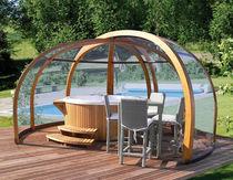 Copertura per spa in legno