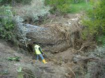 Barriera di protezione / fissa / in metallo / contro le colate di fango