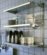 Scaffale a muro / moderno / in metallo / professionale