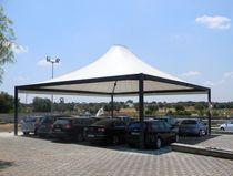 Gazebo in metallo / tetto in tela / per spazio pubblico / per parcheggio