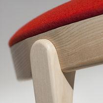 Sedia design scandinavo / imbottita / in legno