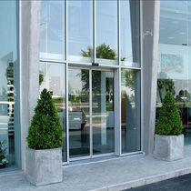 Porta d'ingresso / scorrevole / in vetro / in alluminio