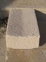 Canaletta per spazio pubblico / in pietra / a doppia pendenza