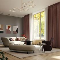 Binario per tende per installazioni a soffitto / con fissaggio murale / ad azionamento manuale / per tende arricciate