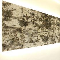 Pannello acustico a muro / in legno / decorativo / testurizzato