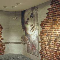 Pannello decorativo in fibra di vetro / in pietra naturale / per esterni / da parete