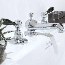 Miscelatore doppio comando per lavabo / da appoggio / in metallo cromato / in nichel