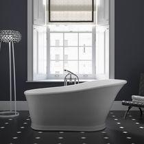 Vasca da bagno da appoggio / ovale / in composito