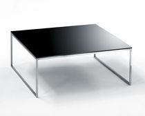Tavolino basso moderno / in acciaio inossidabile / rettangolare / da interno