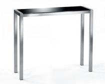 Tavolo alto moderno / in vetro / in legno massiccio / rettangolare