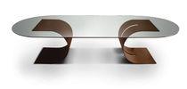 Tavolo da riunione moderno / in metallo / in metallo laccato / rettangolare