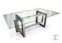 Tavolo da pranzo moderno / in metallo / in ferro / in metallo laccato