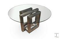 Tavolo da pranzo moderno / in cristallo / in ferro / in metallo laccato