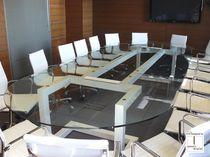Tavolo da conferenza moderno / in metallo / in ferro / in metallo laccato