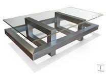 Tavolino basso moderno / in metallo / in ferro / in metallo laccato