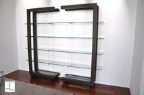 Scaffale moderno / in vetro / in metallo laccato / per ufficio