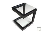 Tavolo d'appoggio moderno / in ferro / in metallo laccato / in acciaio inossidabile
