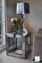 Tavolo d'appoggio moderno / in metallo / rettangolare