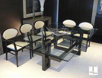 Tavolo moderno / in vetro / rettangolare