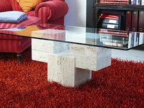 Tavolino basso moderno / in marmo / rettangolare / da interno