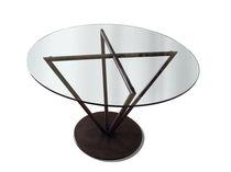 Tavolo moderno / in vetro / rotondo