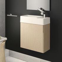 Mobile lavabo sospeso / in PVC / moderno / con specchio