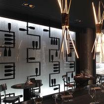 Pannello decorativo da parete / acrilico / retroilluminato