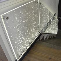 Ringhiera da interno / in acrilico / a pannelli / per scala