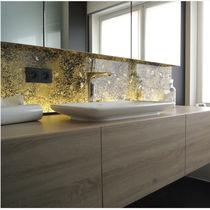 Pannello decorativo paraspruzzi / per stanza da bagno / acrilico