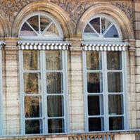 Pannello in vetro soffiato / per finestra / trasparente