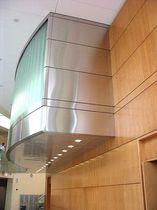 Lamiera decorativa / in acciaio inossidabile / per rivestimento di facciata / levigata