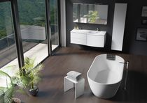 Vasca da bagno da appoggio / ovale / in Solid Surface