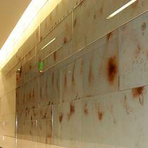 Pannello in vetro per muri / per arredamento di interni / per edilizia / argentato