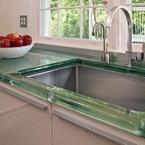 Piano di lavoro faccia in vetro / per cucina