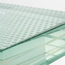 Pannello in vetro per pavimento / a motivo stampato / decorato / antiscivolo