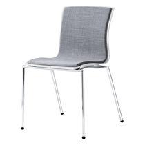 Sedia visitatore moderna / in tessuto / in acciaio / con braccioli