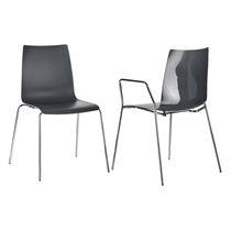 Sedia visitatore moderna / in plastica / in acciaio / impilabile