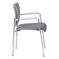 Sedia visitatore moderna / impilabile / imbottita / con braccioli