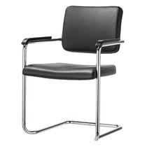 Sedia visitatore moderna / in acciaio / impilabile / imbottita